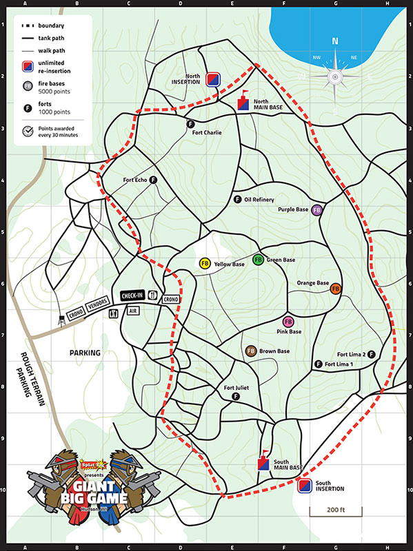 Paintball game field map